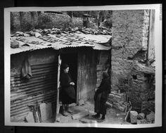Vintage 1947 Woman Refugee Talks to Neighbor Greece Ruins World War II Photo | eBay