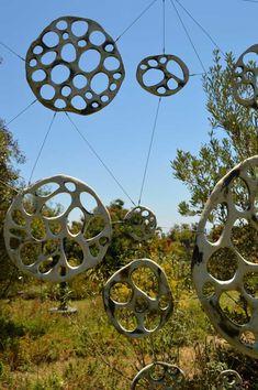 Jenni Ward ceramic sculpture   installations   bone series outdoor installation