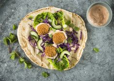 Great with side salad, pittas or flatbread, this Middle Eastern classic is a real crowd pleaser and perfect for sharing. For a lovely mezze, serve your falafel alongside a bowl of hummus or baba ghanoush and some pickled chillies or tomatoes with a sprinkle of extra virgin olive and salt.  #falafel #vegan #vegetarian #mayonnaise #relish Falafel Wrap, Falafel Recipe, Side Salad, Mayonnaise, Avocado Toast, A Food, Food Processor Recipes, Sandwiches, Vegetables