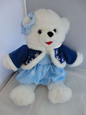 DanDee Snowflake Teddy Bear 2010 Girl Christmas Holiday Plush Stuffed Snowflakes