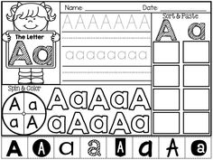 FREEBIE in the Preview!! Fun with Letters! Letter Identification Practice Pages for Kindergarten. Writing, Sorting & Spinning Fun!