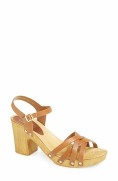 Topshop 'Nancy' Leather Sandal (Women) available at #Nordstrom