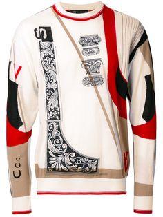VERSACE Capitello print jumper. #versace #cloth #