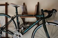 Modern Bike Holder  Black Walnut by JoshuaRutherford on Etsy, $200.00