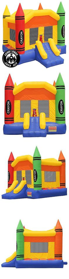 Inflatable Bouncers 145979: Commercial Grade Bounce House 100% Pvc Inflatable Crayon Castle With Blower -> BUY IT NOW ONLY: $789.99 on eBay!