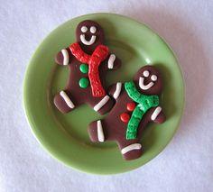 "American Girl/18"" Doll sized food - 2 Gingerbread Men Cookies. $7.00, via Etsy."
