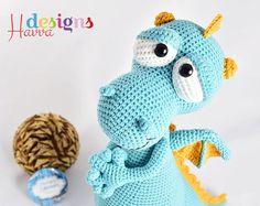 PATRÓN Blummy el dragón Amigurumi Crochet por HavvaDesigns en Etsy