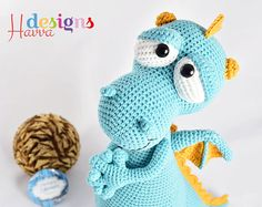 PATTERN  Blummy The Dragon Amigurumi Crochet