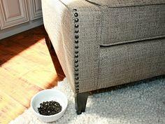 Add nail head trim details to upholstered furniture http://isabellaandmaxrooms.blogspot.com/2010/10/adding-nail-head-trim-to-upholstered.html