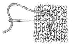 Buttonhole Stitch - Glossary - Knitting Daily