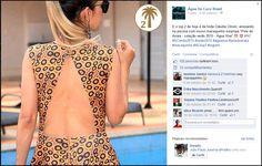 mídia social da água de coco.