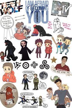 collage, cool, fandom, hipster, mtv, overlays, stickers, teen wolf, transparent…