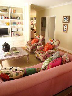 colourful living room // Anna Spiro