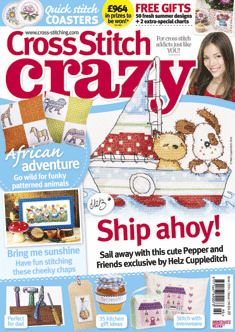 Cross Stitch Crazy issue 190, June 2014 – click here to buy a copy http://secure3.subscribeonline.co.uk/origin/products.sol?mag=CSCZ or visit your app store to download it to your tablet or smartphone!