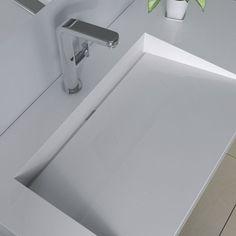 Rectangular Wall Hung Sink - 39 x 20 - ADM Bathroom Design Bathroom Furniture, Bathroom Interior, Interior Design Living Room, Modern Bathroom, Design Bedroom, Bathroom Sink Design, Bathroom Layout, Bathroom Designs, Sink Countertop