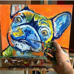 Cool dog art and wall art #dogs #art #painting #love #instagood Now taking custom painting orders for Xmas. Email oscarjetson@gmail.com I ship worldwide but there are only so many I can do in time. Don't miss out. Get your name on the list. #dogs #art #painting #xmasgofts #dogoftheday #pets #portrait #frenchiesofig #frenchy #frenchbulldog #dogbreed #dogs #decor #christmasgift #frogdog #bulldogfrances #frenchbullsofinstagram #love #instsgood