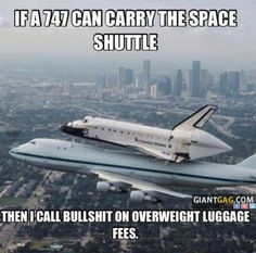 I Call Bullshit On Overweight Luggage Fees,  Click the link to view today's funniest pictures!