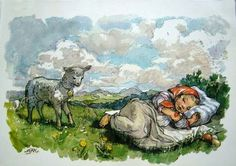 Marie Kvechova-Fischerova March Baby, One Thousand, Baby Lamb, Gif Animé, The Kingdom Of God, Believe In God, Old Postcards, Easter, Drawing