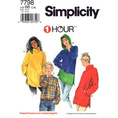 Womens Tunic Top Pattern Simplicity 7798 by finickypatternshop, $9.00
