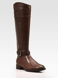 c10e2d4bef99 Tory Burch - Blaire Leather Riding Boots at Saks.want so badly!