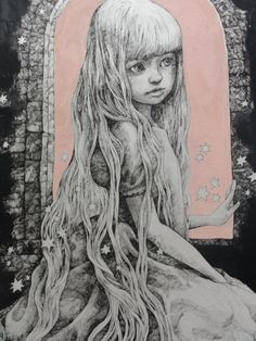 Welcome to the whimsical world of Yuko Higuchi Arte Hip Hop, Hippie Art, Japanese Artists, Whimsical Art, Rock Art, Art Inspo, Alice In Wonderland, New Art, Illustrators