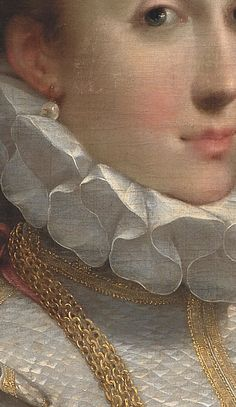 Portrait of a Young Lady, c.1600, detail, Statens Museum for Kunst  Federico Barocci (1553-1612)