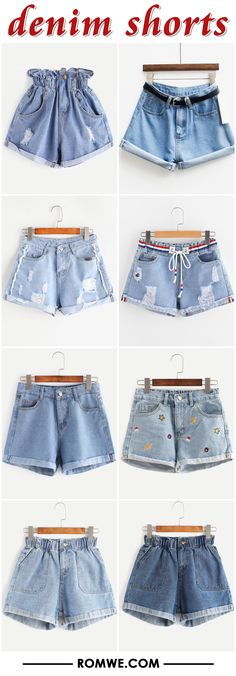 denim shorts from romwe.com
