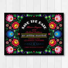 Fiesta Save the Date Invitation, Cinco de Mayo Save the Date, Fiesta Bridal Shower, Couples Engagement Party, Mexican Stock the Bar  This Cinco de