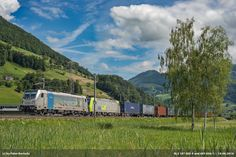 https://flic.kr/p/HnrXPW | BLS 187 005-4 and 485 006-1 | 187 005-4 and 485 006-1 hauling a international container train to the Gotthard, here near Brunnen. Destination of the train is Pomezia-S. Palomba (POSP) in Italy.