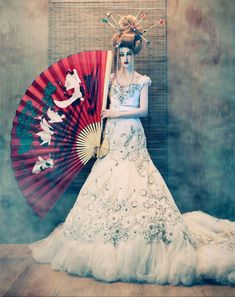 To Dream of Japan: fashion photography by Tina Patni for Amato Haute Couture