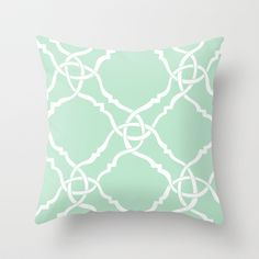 classic modern lattice in pale mint green Throw Pillow Next Bedroom, Beach House Bedroom, Bedroom Green, Green Rooms, Bedroom Decor, My New Room, My Room, Green Throw Pillows, Dining Room Bar
