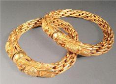 金套链双龙戏珠镯