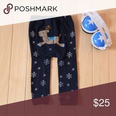 """""""Dearly"""" 🦌 Trousers Pants Leggings Add me on IG @worldclassfashions to be the first to know when these arrive!   Features:Fits smaller than usual. Please check this sizing info Material:80%Cotton+15 Polyester+5% Spandex Elastic Waist Gender: Boy&Girls Blue reindeer moose Size:  10-12 months=80(0-1 yr):Length 40CM+Waist 20CM+Hip 23CM 13-18 months=90(1-2 yrs): Length 45CM+Waist 20CM+Hip 24CM 19-24 months=95(2-3 yrs):Length 48CM+Waist 20CM+Hip 25CM  Add to bundle for the in stock …"""