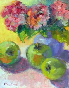 Green Apples In The Summertime by Kit Dalton