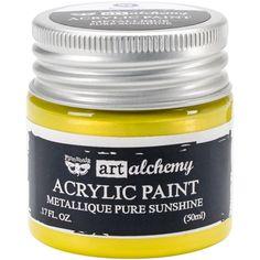 Shop for Finnabair Art Alchemy Acrylic Paint Fluid Ounces-Metalli - metallique lime peel. Prima Marketing, Aqua Rose, Rose Gold, Paint Brush Holders, Art Supply Stores, Sun Art, Joanns Fabric And Crafts, Paint Shop, Art Store