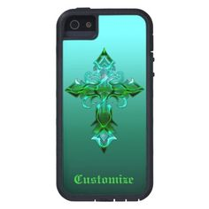Green Medieval Cross iPhone 5/5S Cover