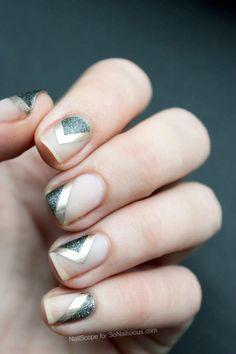 Metallic Negative Space Nail Art Design-2
