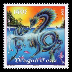 Year of the Dragon 2012 postage stamp - French Polynesia by Tom BKK, via Flickr