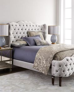 Shop Pantages California King Tufted Bed from Haute House at Horchow, where you'll find new lower shipping on hundreds of home furnishings and gifts. Bedroom Bed, Bedroom Furniture, Home Furniture, Furniture Design, Bedroom Decor, Bedrooms, Handmade Furniture, Gray Furniture, Furniture Online