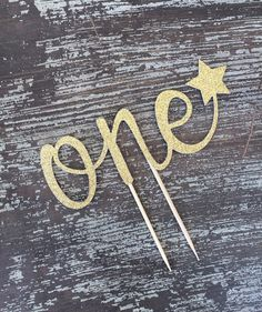One Cake Topper - First Birthday Cake Topper - Star Cake Topper - Twinkle…