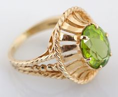 Yellow Gold Peridot Dinner Ring for auction. Please see attached appraisal image for more information. Peridot, Rings For Men, Auction, Canada, Dinner, Yellow, Antiques, Gold, Jewelry