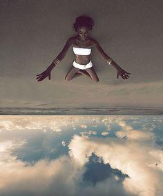 On Back Bay Beach, Tobago. Photograph by Camilla Akrans (in homage to Art Kane). Model: Arlenis Sosa.