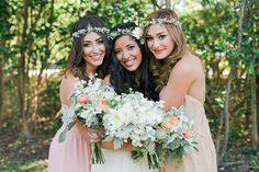 Your Bridesmaids' Beauty Looks: A shot of your best friends looking glam on your big day will be something you'll want to treasure forever.
