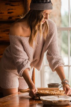 matching sweater and short sets for Christmas morning | Buckle Holiday Fashion, Winter Fashion, Holiday Style, Matching Sweaters, Sweater And Shorts, Lounge Wear, Cozy, Pullover, Couture
