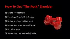 Shoulder Raises, Gain Muscle, The Rock, How To Get, Fitness, Gaining Muscle, Build Muscle, Health Fitness, Rock