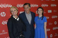 "Mitt Romney, his wife Ann, and their 16-year-old granddaughter Allie Romney attend the Sundance Salt Lake City Gala premiere of ""Mitt."" (Scott Sommerdorf | The Salt Lake Tribune)"