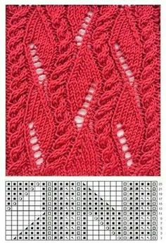Knitting Patterns Lace Patterns with knitting needles. Discussion on LiveInternet - Russian Serv . Lace Knitting Patterns, Knitting Stiches, Cable Knitting, Knitting Charts, Lace Patterns, Easy Knitting, Knitting Designs, Crochet Stitches, Stitch Patterns