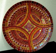 Finished project: red bowl mosaic by? Mosaic Diy, Mosaic Crafts, Mosaic Projects, Mosaic Wall, Mosaic Glass, Mosaic Tiles, Mosaic Birdbath, Mosaic Garden, Mosaic Designs