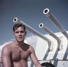 "Jeffrey Hunter on the set of ""Single-Handed (Sailor of the King),"" Malta, 1952. (Robert Capa/International Center of Photography/Magnum Phot..."