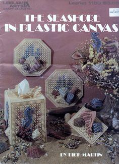 Plastic Canvas Projects Leisure Arts Leaflet The Seashore Vintage Pattern Craft Tool